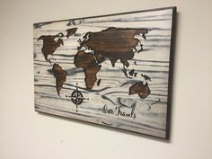 World map wall art wooden world map carved custom quote wedding gift carved world map wall art wooden world map wood decal world map poster gumiabroncs Choice Image