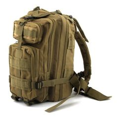Neewer 3P Comfortable Waterproof Assault Pack Tactical Backpack Molle Bag  (Khaki 20L) Hiking Gifts 8a09b8e243