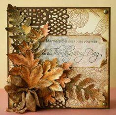 Bellisima Vida: Heartfelt creations card in Paper Creations Magazine Winter 2013 Thanksgiving Greeting Cards, Hand Made Greeting Cards, Making Greeting Cards, Fall Cards, Holiday Cards, Heartfelt Creations Cards, Leaf Cards, Paper Cards, Diy Cards