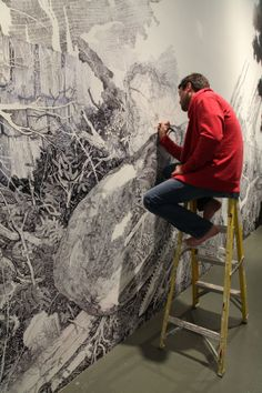 Sean Sullivan drew this whole mural with a Sharpie marker!