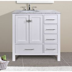 Shop Diamond Britwell Cream Traditional Birch Bathroom Vanity Common 36 In X 21 In Actual 36