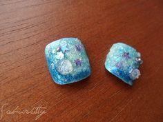 Blue Sea 3D Nail Art Mermaid Two Toe Set 1 point 9 by saburkitty