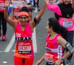 Kiran Ghandi has spoken about 'free bleeding' whilst running the London Marathon to break the taboo around periods