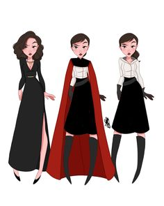 Since Solo is now out, I wanted to share these! These are some Qi'ra costume studies I did when my boss was trying to figure out which look…