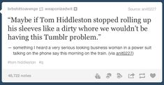 This is just hilarious, the Hiddleston problem solved. This made me giggle! Fandoms, Tumblr Stuff, Tom Hiddleston Loki, Geek Out, The Victim, The Villain, Superwholock, Tumblr Funny, Make Me Smile