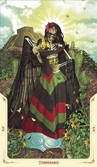 Santa Muerte Tarot - Temperance
