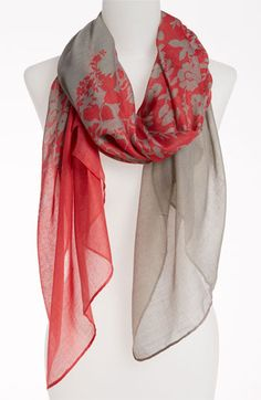$18 David & Young Sheer Floral Scarf available at #Nordstrom