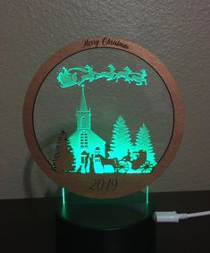 Custom Made Christmas LED Light with Remote Laser Engraved Photo Engraving, Laser Engraving, Cardboard Deer Heads, Jaali Design, Laser Cutter Ideas, Custom Wood Signs, Luz Led, Wood Crafts, Remote
