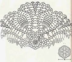 Kira scheme crochet: Four beautiful tablecloth with Pineaple motives