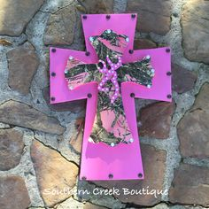 Pink and Camo Cross