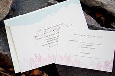 Mountain Flowers Wedding Invitation Bridal shower on by mavora, $15.00