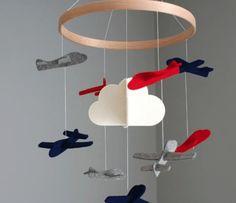 Decor quartinho de bebê aviões _ mobile