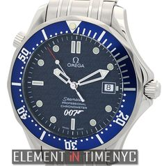 #Omega #Seamaster 300M Chronometer 007 Limited Edition 42mm iN Stainless Steel With A Blue Dial (2537.80.00) #JamesBond