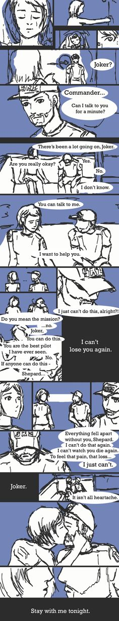 ME2: Before the End Mission Jokermance by ~thekingslover on deviantART I really wish you could do this.
