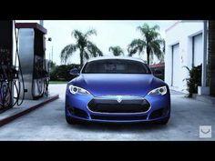 "▶ Tesla Model S on 22"" Vossen CV1 Concave Wheels | Rims - YouTube"