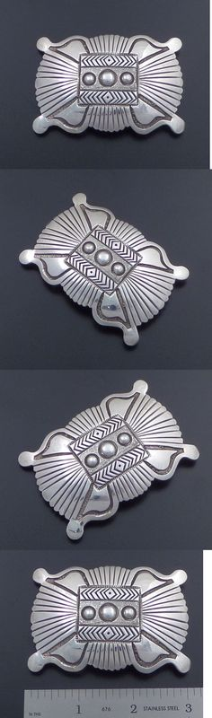 Other Native American Jewelry 11315: Hemerson Brown Sterling Silver Belt Buckle BUY IT NOW ONLY: $169.5