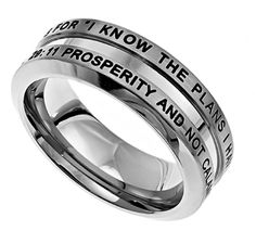 Jeremiah 29:11 || I Know. Stainless Steel Thick Band