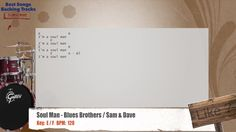 Soul Man - Blues Brothers / Sam & Dave Drums Backing Track with chords and lyrics