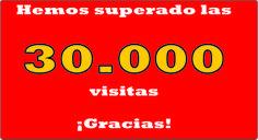 ¡30.000 MIRADAS HAN VISITADO ESTE BLOG! ¡MUCHAS GRACIAS POR ACOMPAÑARME!