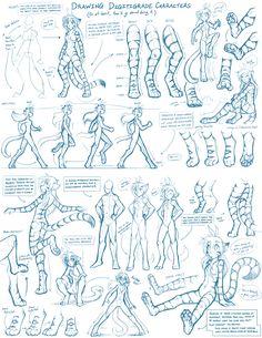 Tkturials - Digitigrade Legs Guide by Twokinds.deviantart.com on @deviantART