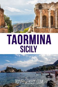Travel to Taormina, Sicily, Italy: See all the things to do and places to see that can be done in one day. From Taormina beach to Taormina city attractions, covering all the main sights in Taormina. Sicily Travel, Italy Travel Tips, Rome Travel, Travel Destinations, Travel Europe, Sicily Italy, Venice Italy, Verona Italy, Puglia Italy