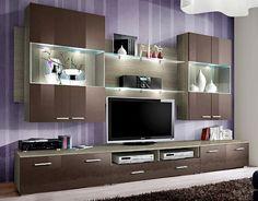 Details about space 3 - tv entertainment center / modern tv wall unit / tv cabinet Modern Tv Cabinet, Tv Cabinet Design, Modern Tv Wall Units, Tv Wall Design, Tv Unit Design, Modern Wall, Cabinet Space, Wall Display Cabinet, Entertainment Center Wall Unit
