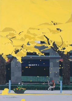 Forest Illustration, Travel Illustration, Environment Concept Art, Environment Design, Japanese Art Modern, Traditional Paintings, Parcs, Environmental Art, Western Art