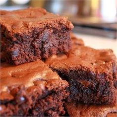 Brooke's Best Bombshell Brownies - Allrecipes.com  I have a no-fail, one bowl brownie recipe that gets raves. This one is pretty similar, but there are some differences. I may have to try it next time.