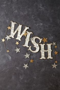 """""""When you wish upon a Star"""" or """"Twinkle Twinkle little Star"""" baby shower themed DIY banner. Noel Christmas, Christmas Crafts, Christmas Decorations, Christmas Wishes, Christmas Sentiments, Holiday Decorating, New Years Party, New Years Eve, Winter Wonderland"""