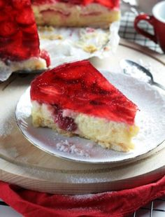 TORCIK BROWNIE Z BORÓWKAMI Calzone, Cheesecake, Cooking Recipes, Sweets, Food, Pizza, Gummi Candy, Cheesecakes, Chef Recipes