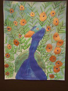 3rd grade peacocks  (CAK-Mrs. Barton)