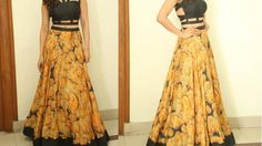 Anarkali long skirt DIY | Anarkali skirt drafting, cutting and stitching step by step tutorial - YouTube