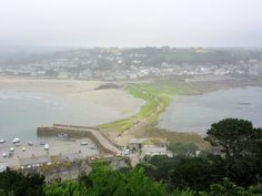 MARAZION:  The view from St. Michael's Mount, Cornwall https://destinationfiction.blogspot.ca/2016/10/coastal-marvels-of-cornwall.html