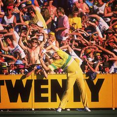 Who could forget this moment? Bay 13 mimicking Merv Hughes' every move #CricketSnaps