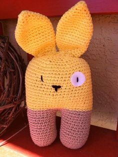 Crocheted Baby's First Bunny by mimimariedesigns on Etsy, $17.50