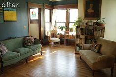 I like everything about this room.  It feels cozy and comfortable and I want to curl up in it with a book.