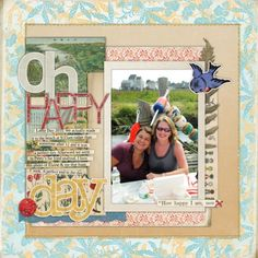 Using Basic Print Patterns on Scrapbook Pages