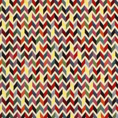 Gobelín Cik-cak - Bavlna - Polyester - Polyakryl - barevny mix