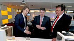 Wirtschaftsminister Siegmar Gabriel auf Stippvisite bei Sartorius (HNA, 26.02.2016)