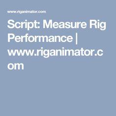 Script: Measure Rig Performance | www.riganimator.com