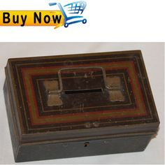 CASH BOX VINTAGE   BY   EDWARD SHARP & SONS LTD   FROM ENGLAND                                       - Bid with confidence  A great article of collection -   PRODUCT DESCRIPTION:             Great vintage cash box without key.      From England.     Weight: 115 gr (0.25 lb)     Size: 12 cm (4,72 inches) length x 7 cm (2,75 inches) width x 4 cm (1,57inches) high approximately.     Look each picture for the actual condition.  http://stores.ebay.com/BindClick-Store