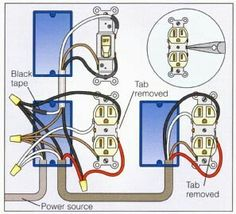 wiring outlets and lights on same circuit google search diy rh pinterest com Wiring Multiple Receptacles Wiring Multiple GFCI Outlets