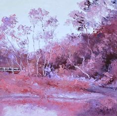 """LANDSCAPE IN SHADES OF PINK"" by Jan Matson. Paintings for Sale. Bluethumb - Online Art Gallery"