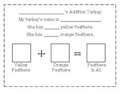 THANKSGIVING ADDITION TURKEYS - TeachersPayTeachers.com