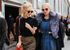Phil Oh's Best Street Style Pics From Milan Fashion Week - Shea Marie with a Fendi bag and Caroline Vreeland