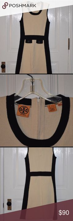 🍂🌰🍂 TORY BURCH WOOL COLOR BLOCK DRESS SALE ENDS AT 11 CST. Knee length midi dress. Faux front pockets. 100% wool. Slimming black side panels. Zipper back. 🚫 modeling/trades/exchanges/returns. Tory Burch Dresses Midi