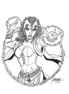 Scarlet Witch by George Perez, in Simon  Hausner's Marvel Comic Art Gallery Room - 1054401