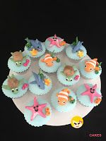 under the sea cupcakes, Cakes For Kids, birthday cakes, kids cakes, cakes for girls, cakes for boys Sunny Girl cakes, cupcakes