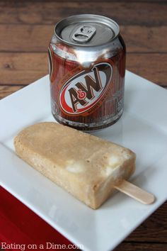 Rootbeer float popsicles recipe