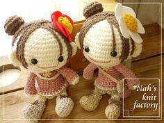 dos muñequitas amigurumi pagina japonesa http://nah003.blog47.fc2.com/